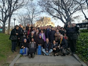Foto grupo en Sagrada Familia